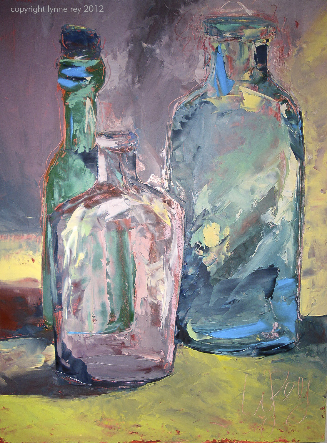 A r t new paintings by lynne rey page 3 for How to paint glass with oil paint